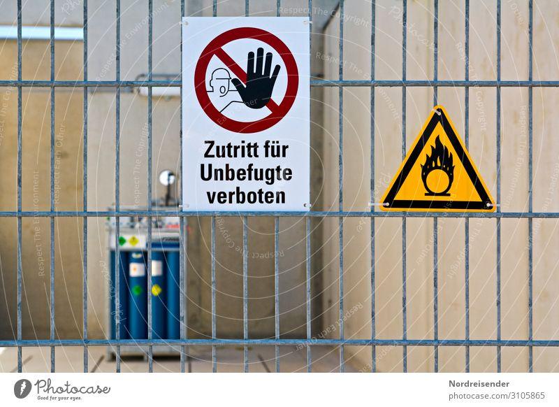 Piktogramm an einem Gefahrenbereich Arbeit & Erwerbstätigkeit Beruf Arbeitsplatz Fabrik Wirtschaft Industrie Güterverkehr & Logistik Energiewirtschaft Maschine
