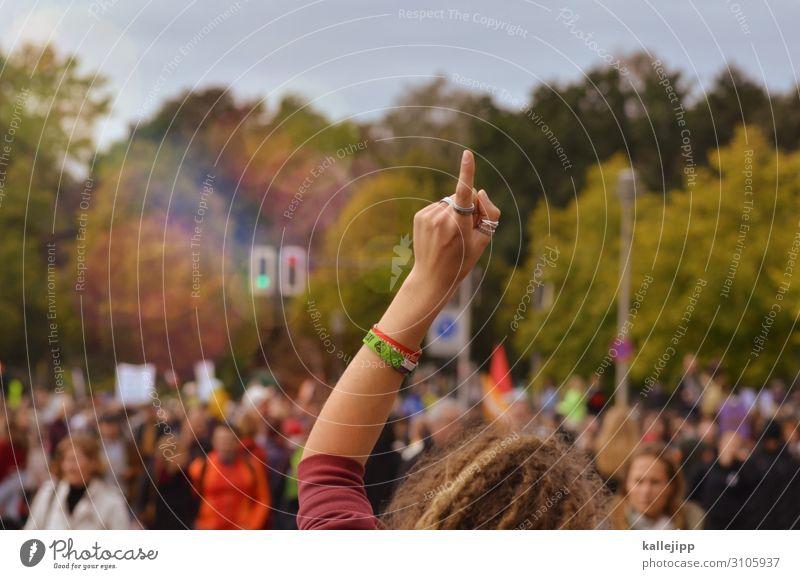 girlpower Mensch Natur Hand Umwelt Haare & Frisuren Kopf Kommunizieren Arme Finger Klima Politische Bewegungen Zeichen Wut Publikum Politik & Staat