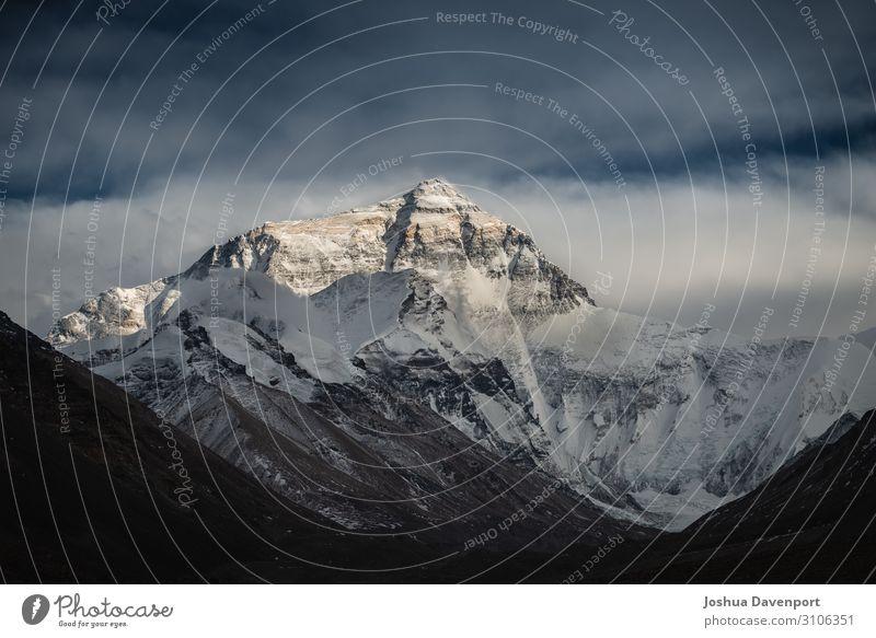 Mount Everest Ferien & Urlaub & Reisen Tourismus Ausflug Abenteuer Sightseeing Expedition Umwelt Natur Landschaft Berge u. Gebirge Gipfel Schneebedeckte Gipfel