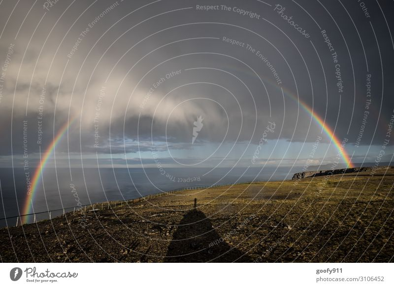 Nach dem Unwetter Himmel Ferien & Urlaub & Reisen Natur Wasser Landschaft Meer Wolken Ferne Umwelt Tourismus Freiheit Felsen Ausflug Regen Horizont Wetter