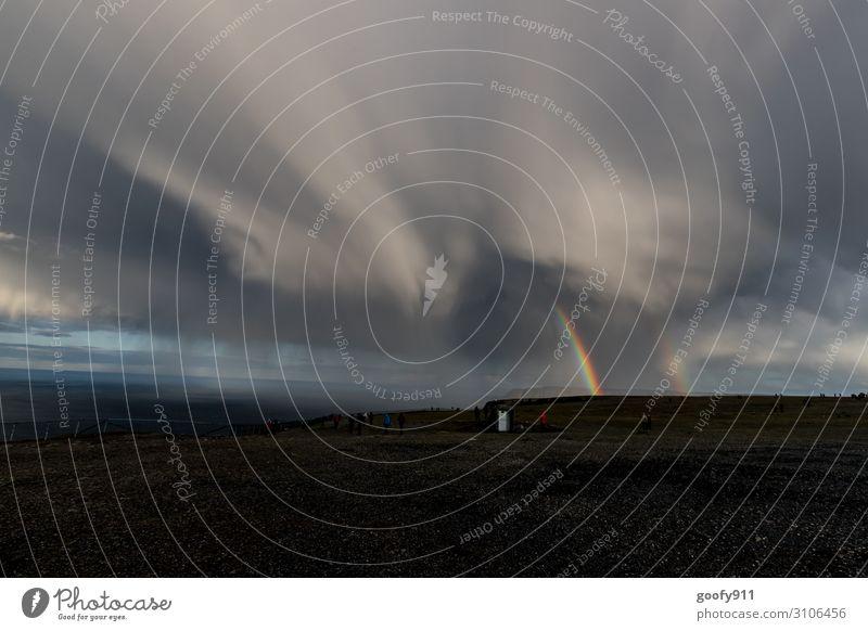 Unwetter Himmel Ferien & Urlaub & Reisen Natur Landschaft Meer Wolken Ferne Umwelt Tourismus Freiheit Ausflug Regen Horizont leuchten Wetter Abenteuer