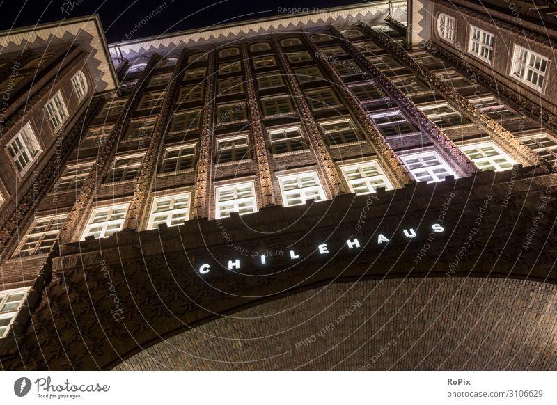Chilehaus in Hanmburg. Lifestyle Design Ferien & Urlaub & Reisen Tourismus Sightseeing Städtereise Haus Arbeit & Erwerbstätigkeit Büroarbeit Arbeitsplatz