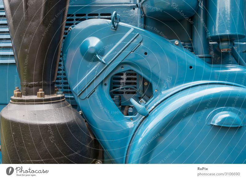 Detail eines historischen Traktors. Lifestyle Design Freizeit & Hobby Modellbau Wissenschaften Arbeit & Erwerbstätigkeit Beruf Arbeitsplatz Wirtschaft