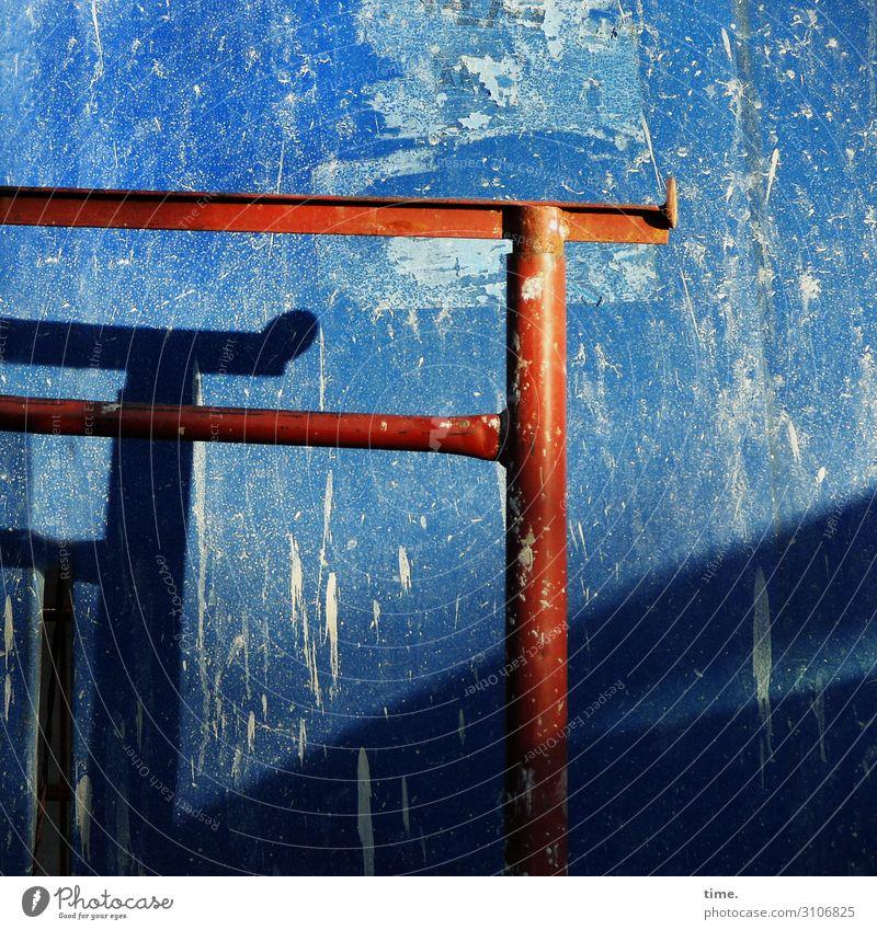Metallika V metall oberfläche eisen stahl sicherheit muster struktur sonnig lichtverlauf schatten stahlträger wand baustelle
