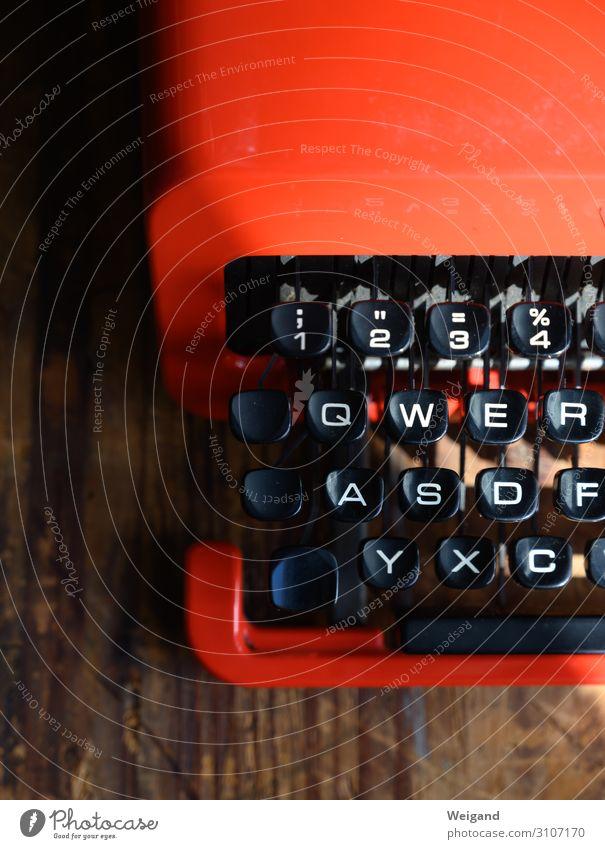 Schreibmaschine Stil Häusliches Leben Bildung Wissenschaften lernen Student Medienbranche Business Maschine Zeichen Schriftzeichen Ziffern & Zahlen schreiben