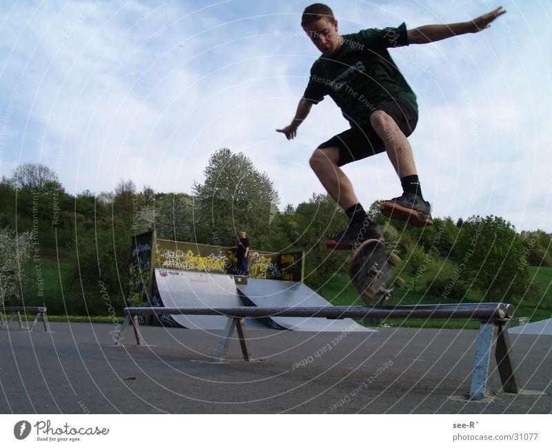 Skater @ Work 2 Sport springen Park Luft Skateboarding Kickflip