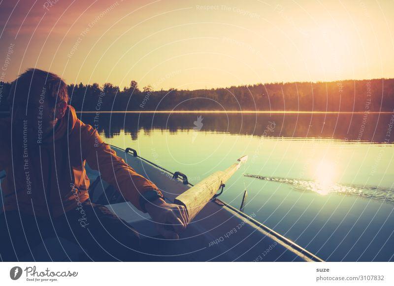 Stimmungstiefe Wohlgefühl ruhig Ferien & Urlaub & Reisen Ausflug Abenteuer Freiheit Sommer Sommerurlaub Sonne Mensch Mann Erwachsene 18-30 Jahre Jugendliche