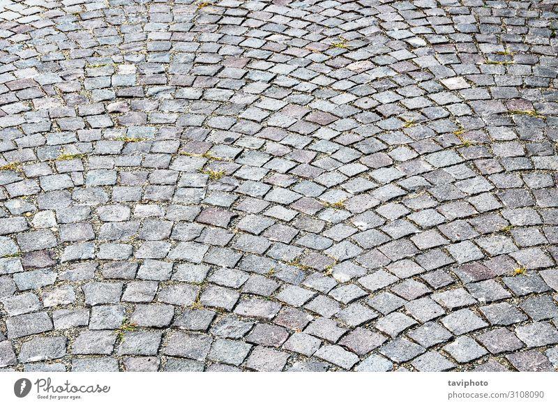 Pflaster aus kubischem Stein Design Felsen Architektur Straße Wege & Pfade alt grau Perspektive Tradition Mauerwerk Pflasteruntergrund geometrisch