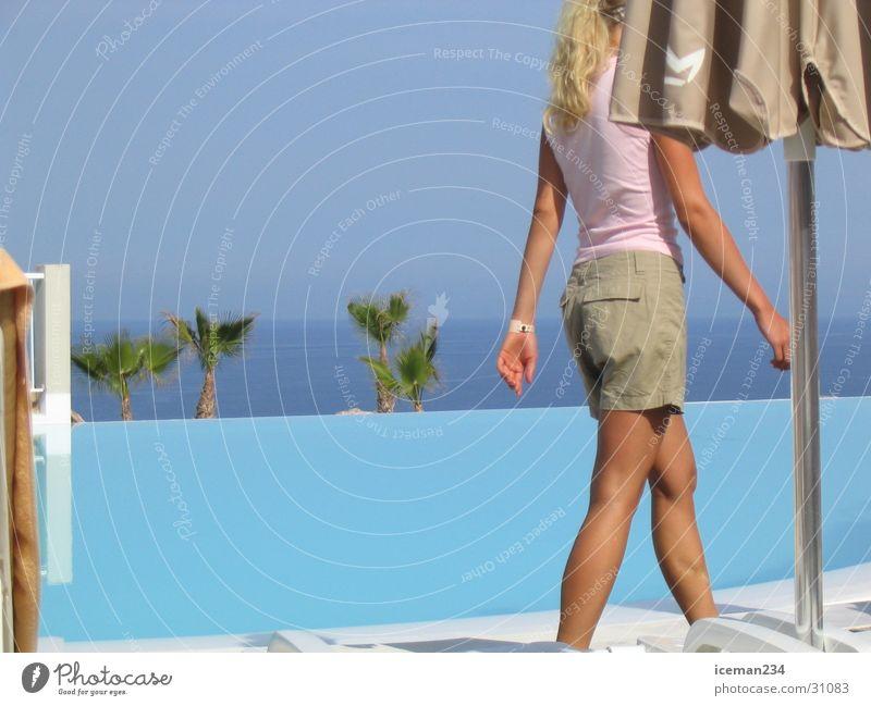 Walking Way Schwimmbad Meer Ferien & Urlaub & Reisen Europa Sonne