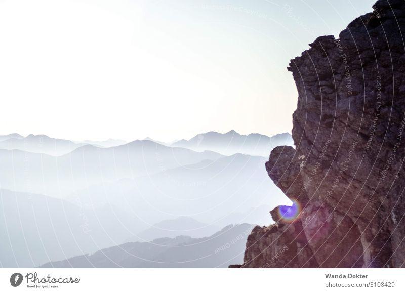 Mountains View Abenteuer Ferne Freiheit Berge u. Gebirge wandern Natur Landschaft Herbst Schönes Wetter Felsen Alpen Gipfel Erholung genießen Sport einfach