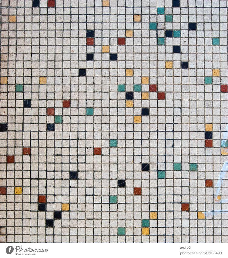 Ende offen Kunst Kunstwerk Mauer Wand Sammlung Mosaik Mosaiksteinchen Stein klein viele verrückt mehrfarbig komplex Konzentration Netzwerk Ordnung Vereinzelung