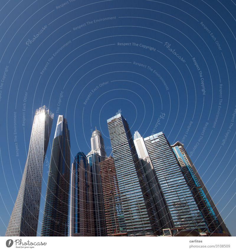 Skyline verdreht .... Dubai Vereinigte Arabische Emirate Großstadt Hochhaus Architektur Bauboom Geld Wirtschaftswachstum gigantisch
