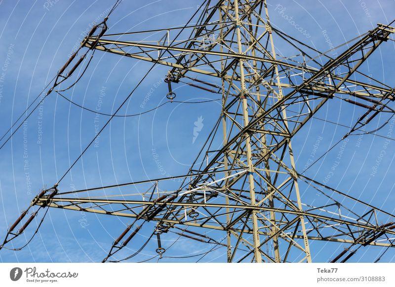 Hochspannung Energiewirtschaft Technik & Technologie ästhetisch Zukunft Industrie Elektrizität Windkraftanlage Wissenschaften Strommast Sonnenenergie