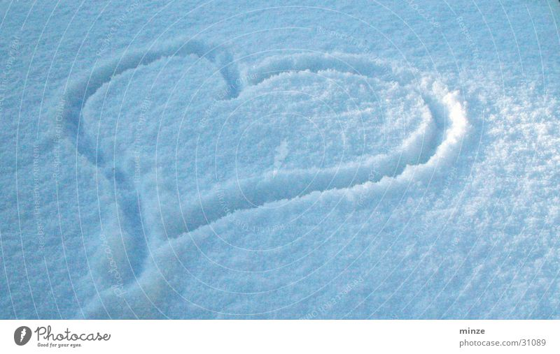 bluecool weiß blau Liebe Schnee Herz