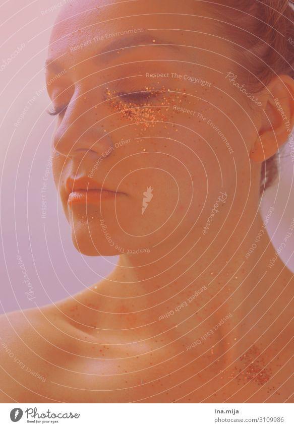 _ schön Körperpflege Haut Gesicht Kosmetik Parfum Creme Schminke ruhig Meditation Silvester u. Neujahr Mensch feminin Junge Frau Jugendliche Erwachsene Leben 1