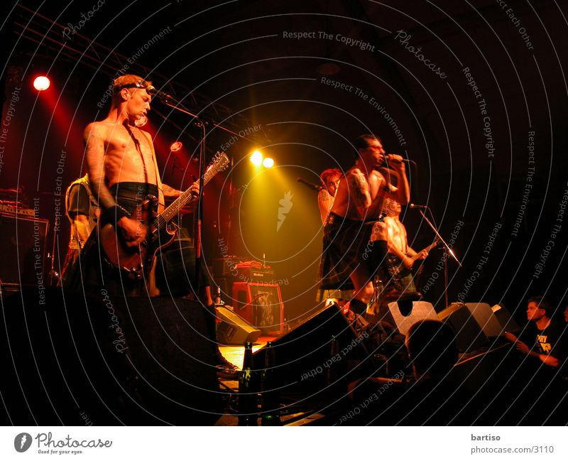 Real Mc Kenzies live Menschengruppe Schnur Konzert Rockmusik Musik