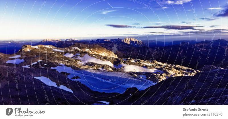 Sonnenaufgang am Hochkönig Natur Landschaft Himmel Sonnenuntergang Sommer Berge u. Gebirge Gipfel Schneebedeckte Gipfel Gletscher wandern Abenteuer Bewegung