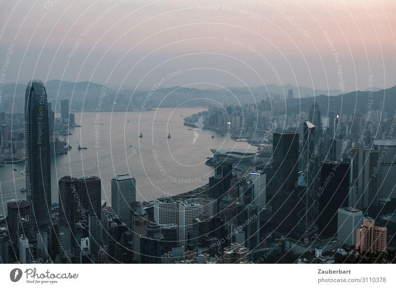 Good morning Hong Kong Himmel Hongkong Stadt Stadtzentrum Hochhaus Sehenswürdigkeit Victoria Peak Erfolg groß Unendlichkeit hoch Optimismus Stolz Kultur