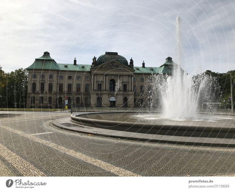 Japanisches Palais in Dresden. Foto: Alexander Hauk Ferien & Urlaub & Reisen Tourismus Ausflug Ausstellung Museum Kultur Himmel Sonnenlicht Sommer Stadt Palast