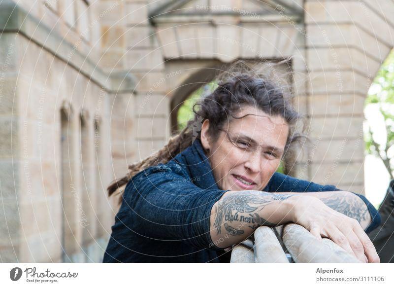 Tattooed people do it better | AST-Cemnitz17 Mensch feminin Frau Erwachsene 30-45 Jahre Lächeln lachen Coolness Freude Glück Zufriedenheit selbstbewußt