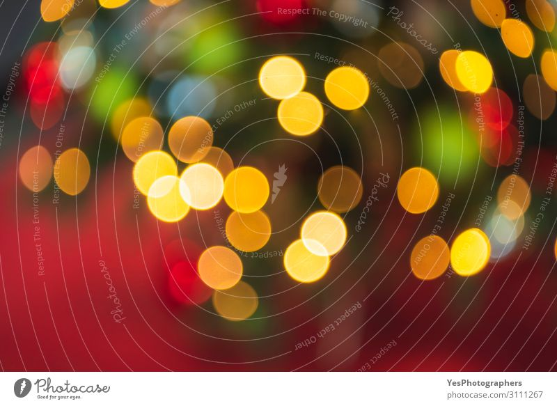 Weihnachtsbeleuchtung Bokeh Hintergrund. Defokussierter Weihnachtshintergrund Glück Dekoration & Verzierung Feste & Feiern Weihnachten & Advent
