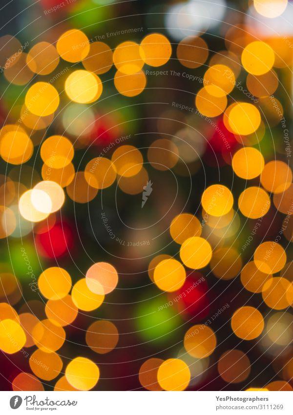 Mehrfarbige Weihnachts-Bokeh-Lichter. Weihnachten bunter Hintergrund Glück Dekoration & Verzierung Feste & Feiern Weihnachten & Advent Silvester u. Neujahr hell