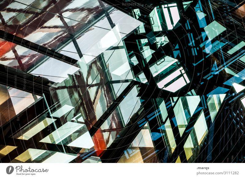 3000 Lifestyle elegant Stil Design Architektur Glas Metall außergewöhnlich Coolness dunkel einzigartig modern Perspektive Irritation Doppelbelichtung