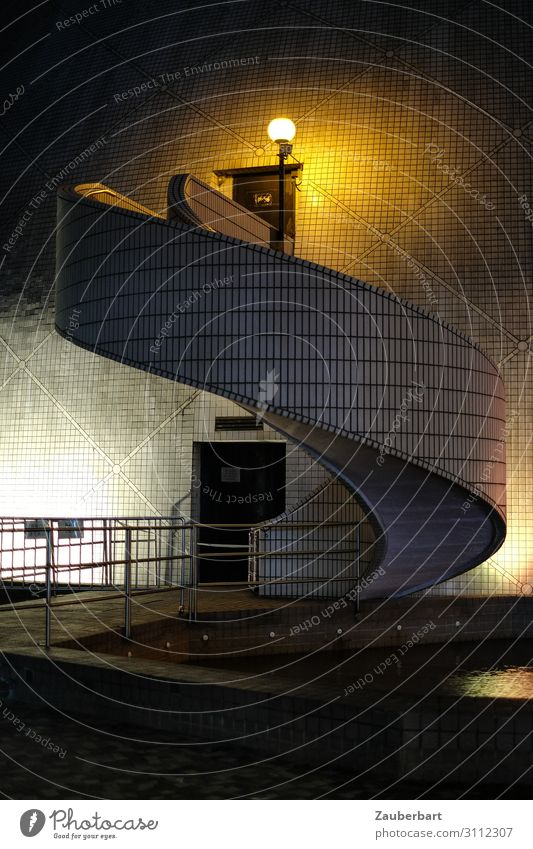 Wendeltreppe Kunst Museum Hongkong Kowloon Stadt Stadtzentrum Menschenleer Bauwerk Architektur Treppe Fassade Sehenswürdigkeit Kulturzentrum ästhetisch