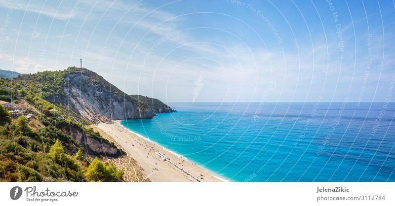 Milos Strand auf der Insel Lefkada, Griechenland exotisch Ferien & Urlaub & Reisen Tourismus Ausflug Abenteuer Kreuzfahrt Sommer Sommerurlaub Sonnenbad Meer