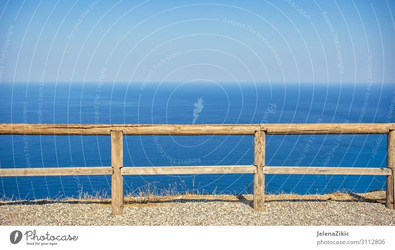Himmel Ferien & Urlaub & Reisen Natur Sommer blau Farbe Landschaft Meer Strand Holz Umwelt Küste Tourismus Freiheit oben hell