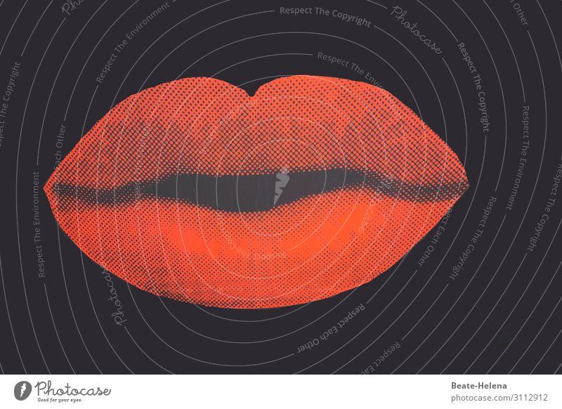A big kiss for you Stil Design Mund Lippen Valentinstag Kunstwerk Zeichen atmen beobachten Blühend Feste & Feiern Lächeln leuchten Liebe Umarmen ästhetisch