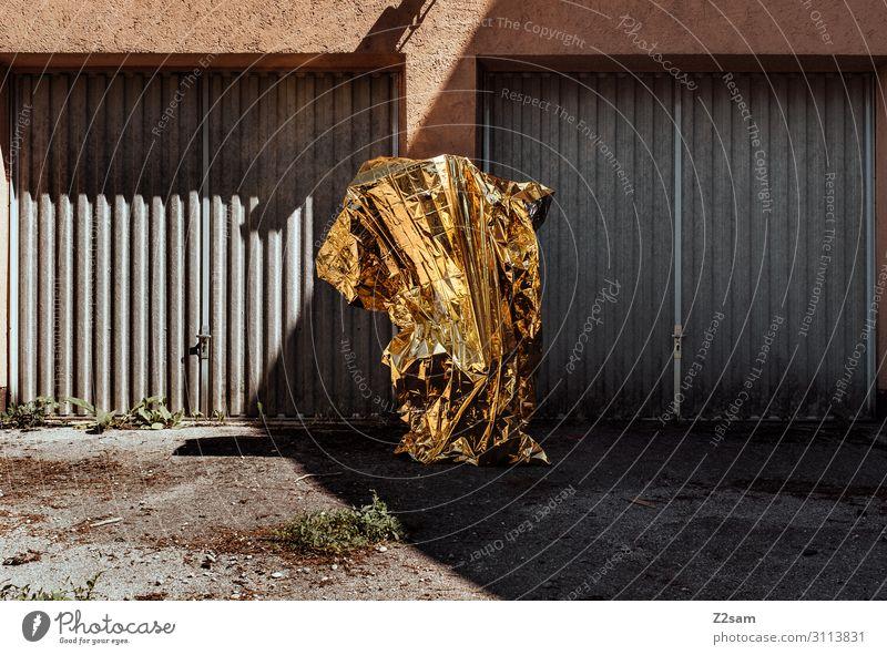 THE OTHERS Technik & Technologie Wissenschaften Fortschritt Zukunft High-Tech Skulptur stehen außergewöhnlich gruselig modern gold Energie Idee innovativ