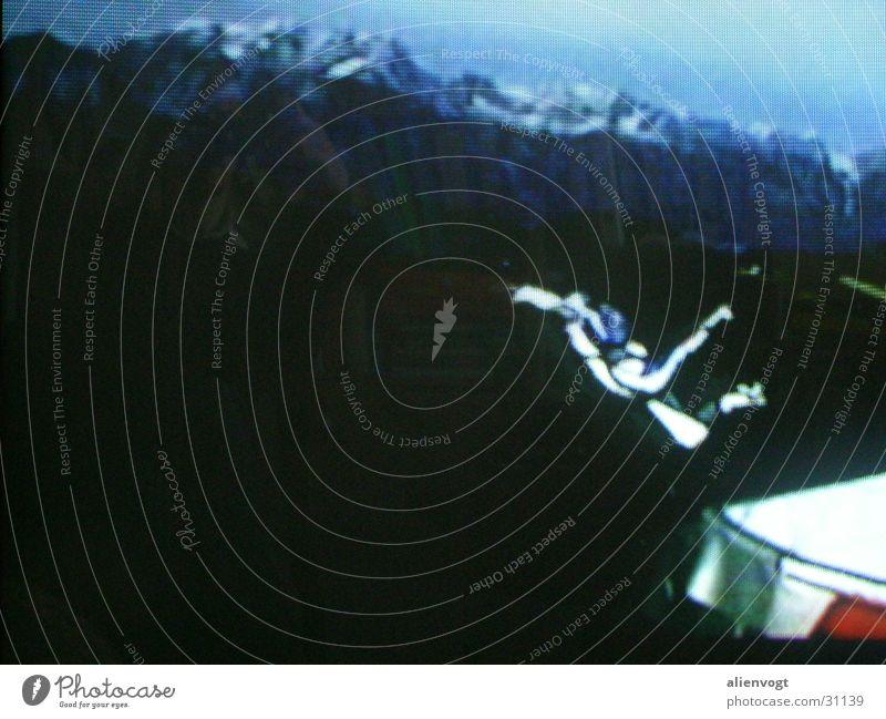 Falling Mensch Berge u. Gebirge fliegen Fallschirm Fallschirmspringer