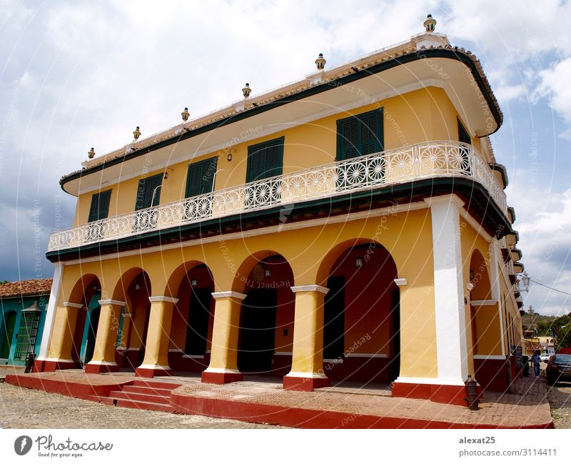 Palacio Brunet in Trinidad - Kuba schön Ferien & Urlaub & Reisen Tourismus Haus Stadt Palast Gebäude Architektur Straße alt retro Tradition amerika Hintergrund
