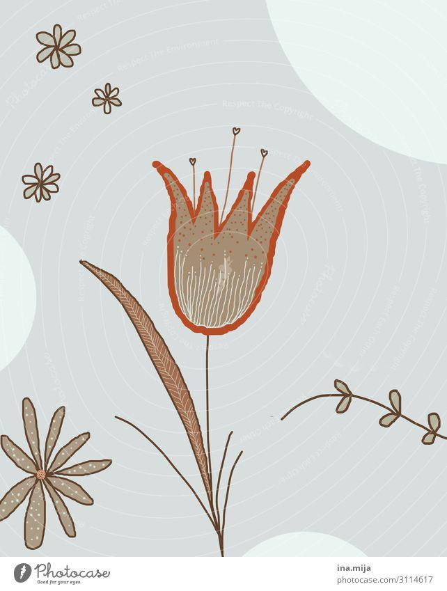 Blume Kunst Natur Pflanze Blatt Blüte ästhetisch fantastisch braun orange Design Farbe Freiheit Glück Hoffnung Idylle Kreativität Leichtigkeit Optimismus
