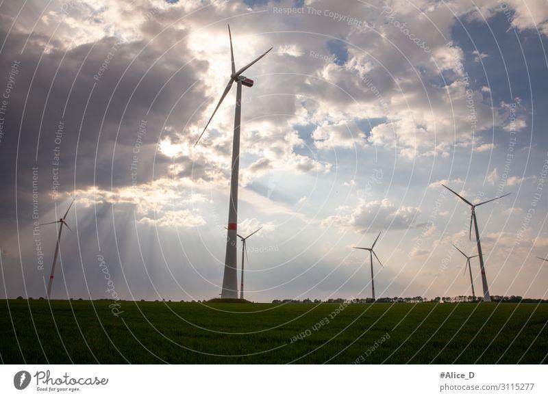 wind turbines german RWE power energy Technik & Technologie Energiewirtschaft Erneuerbare Energie Windkraftanlage Industrie Umwelt Landschaft innovativ