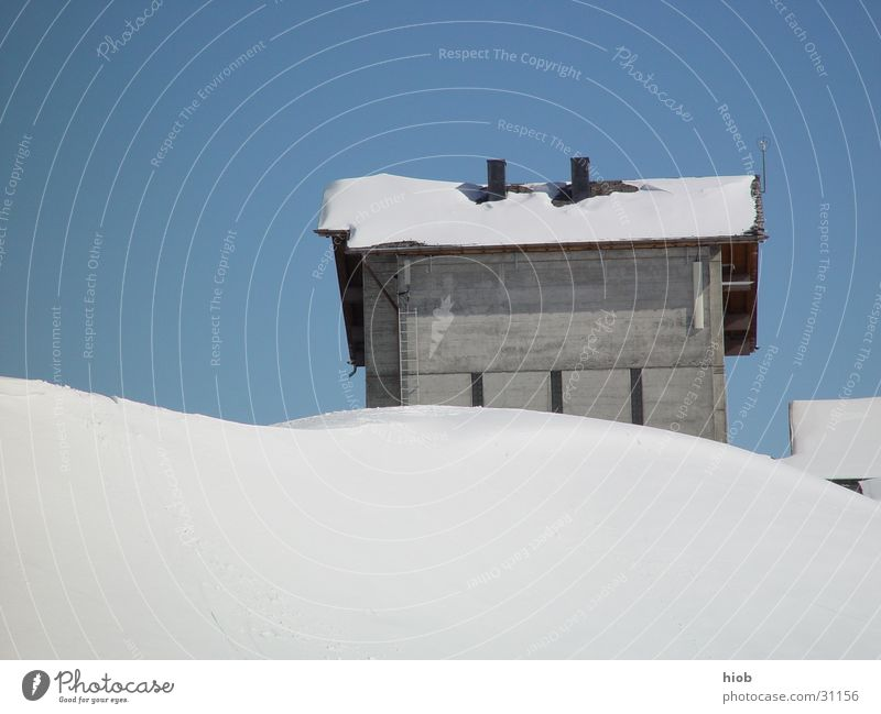 Schneehuus alt Winter Haus Berge u. Gebirge Holz Architektur authentisch