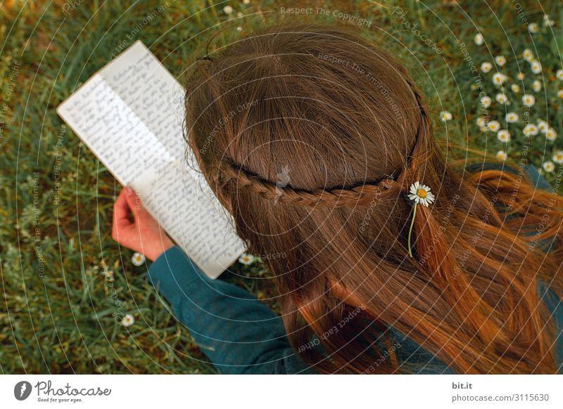Geschriebenes l Brief Frau Mensch Jugendliche Junge Frau Freude Erwachsene feminin Haare & Frisuren Freizeit & Hobby Lebensfreude lesen Liebeserklärung