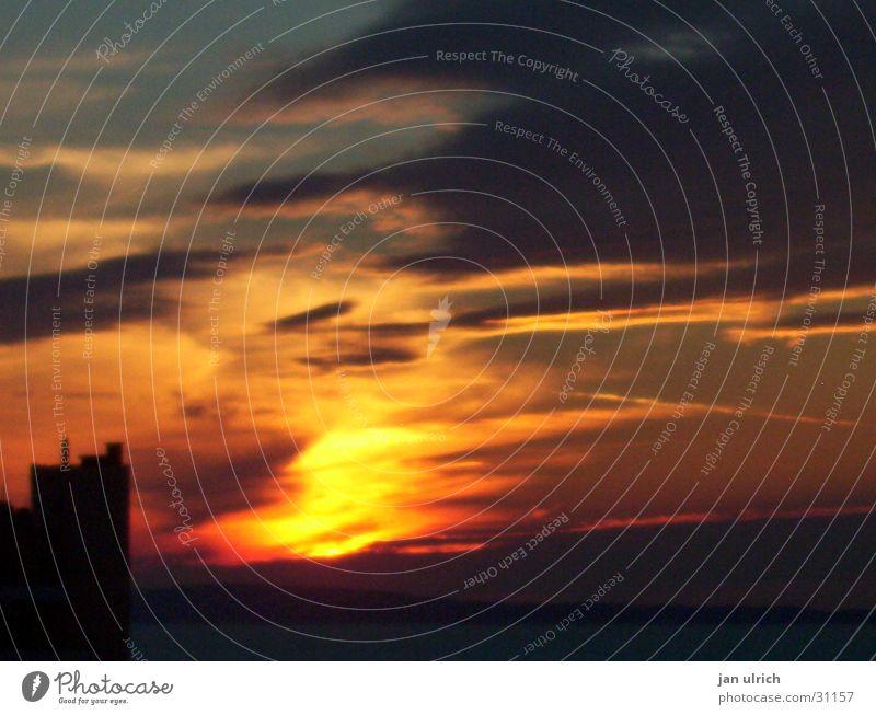Unter der Sonne Californiens Sonnenuntergang Licht Wolken Romantik Abend
