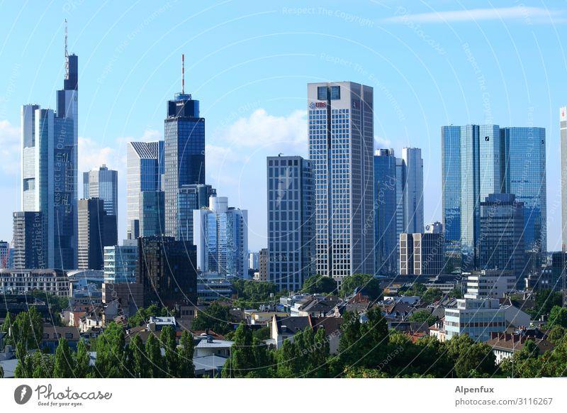 Bankfurt Centralpark Frankfurt am Main Stadt Stadtzentrum Stadtrand Hochhaus Bankgebäude Business Energie Erholung Erwartung Kapitalwirtschaft Fortschritt