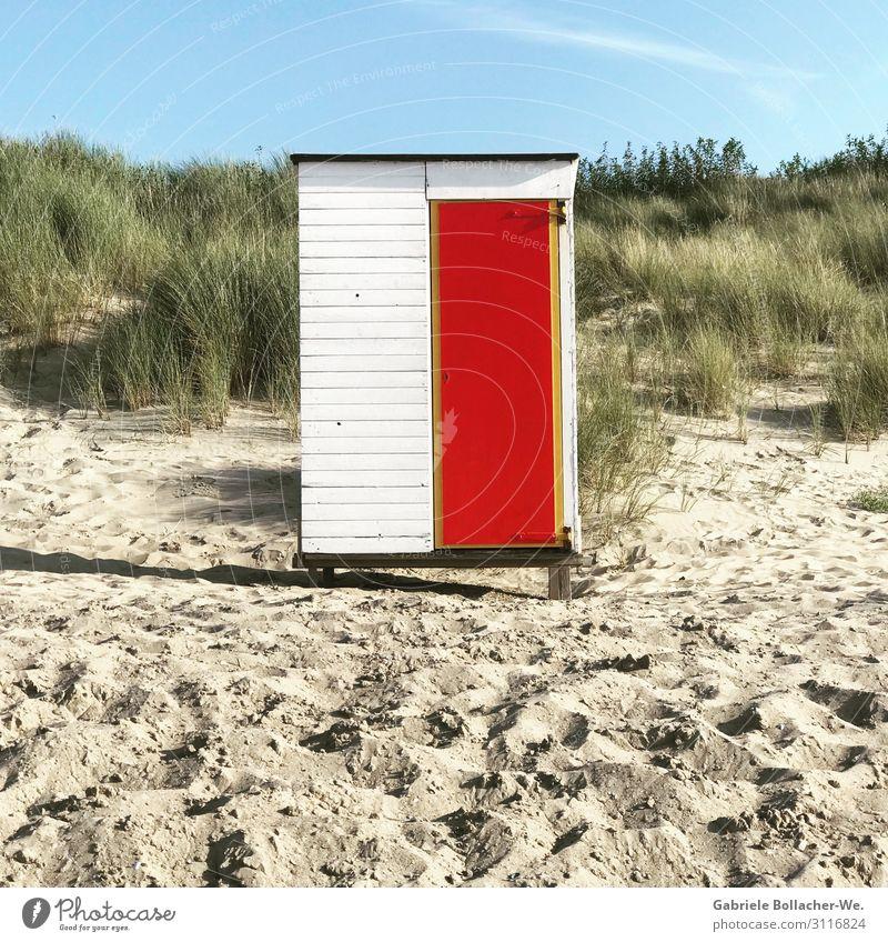 Strandhäuschen Glück harmonisch Zufriedenheit ruhig Schwimmen & Baden Freizeit & Hobby Ferien & Urlaub & Reisen Freiheit Sommerurlaub Sonne Meer Sand