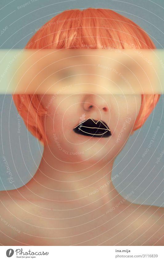 anonym Mensch feminin androgyn Junge Frau Jugendliche Erwachsene Leben Gesicht 1 18-30 Jahre Kunst Künstler Theaterschauspiel Schauspieler Haare & Frisuren