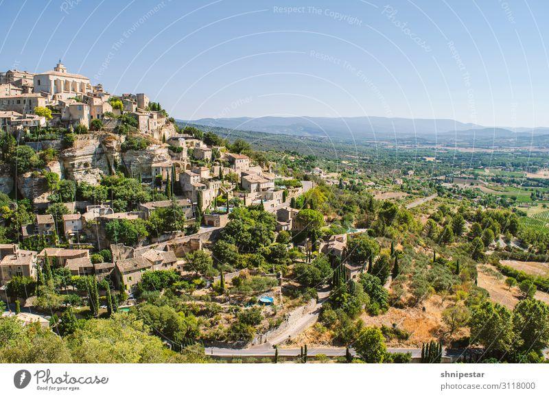 Gordes, Provence-Alpes-Côte d'Azur, Frankreich Himmel Ferien & Urlaub & Reisen Sommer schön Landschaft Haus Gebäude Tourismus Ausflug wandern Europa elegant