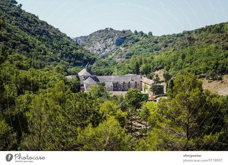 Sénanque Abbey, Gordes, France Ferien & Urlaub & Reisen Tourismus Ausflug Sightseeing Städtereise Sommerurlaub Natur Landschaft Pflanze Baum Hügel
