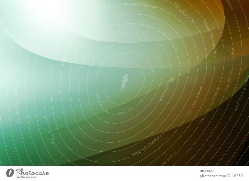 9 Innenarchitektur ästhetisch außergewöhnlich Coolness hell modern rund gelb grün türkis Design Farbe Perspektive Präzision Geometrie Grafik u. Illustration