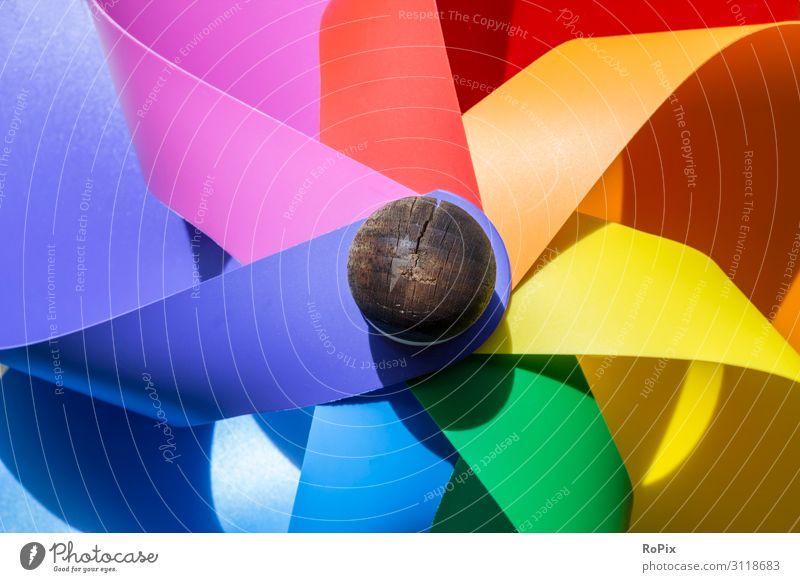 Buntes Windrad. Lifestyle Design Freizeit & Hobby Spielen Kinderspiel Häusliches Leben Garten Dekoration & Verzierung Kindererziehung Bildung Kindergarten