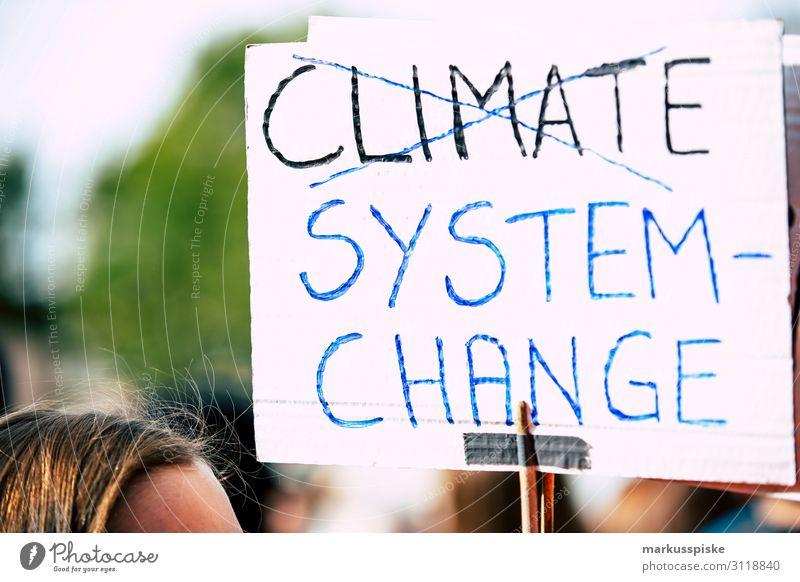 Climate - system change Kind Student Desaster Frieden Global Climate Mobilisation Global Climate Strike activist appeal atmosphere Hintergrundbild blue climate