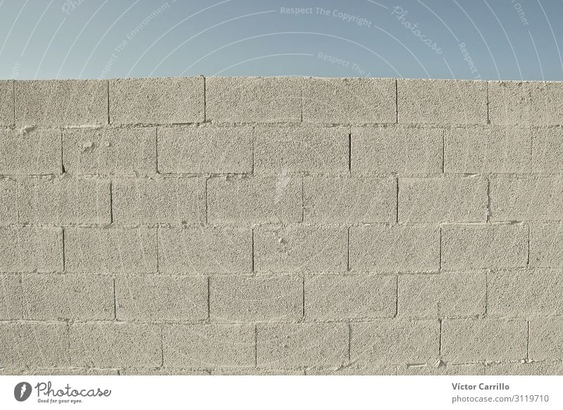 Eine Betonwand zum Nachbauen Mauer Wand Kraft Willensstärke Mut Tatkraft Platzangst dumm Trägheit uneinig Farbfoto Außenaufnahme Morgen Tag