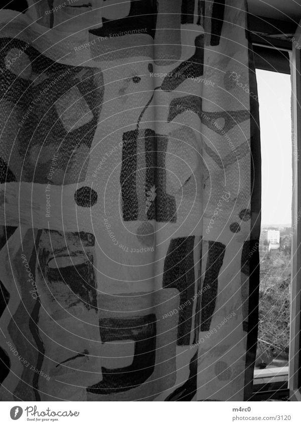 Vorhang the 2nd Fenster Fototechnik Natur Schwarzweißfoto
