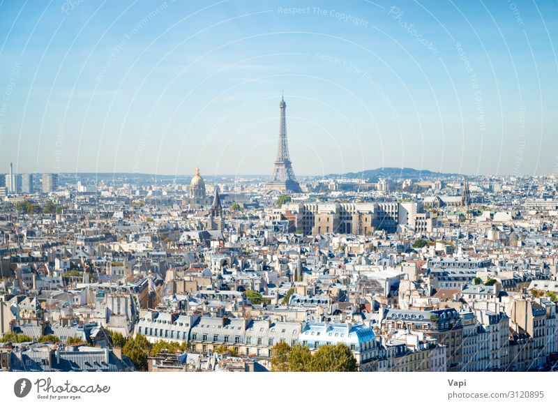 Pariser Stadtlandschaft mit Eilffelturm schön Wellness Freizeit & Hobby Ferien & Urlaub & Reisen Tourismus Ausflug Abenteuer Ferne Freiheit Sightseeing